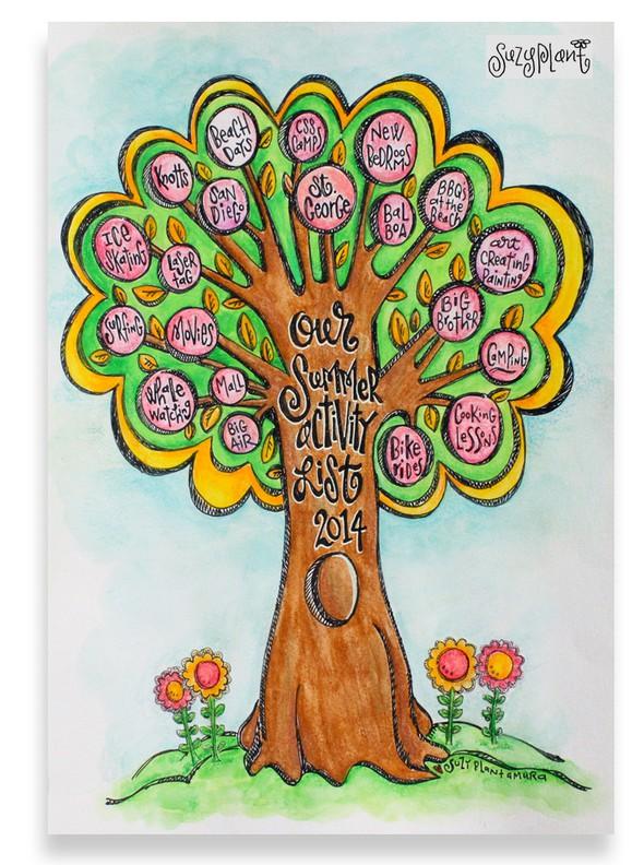 Summer activity tree