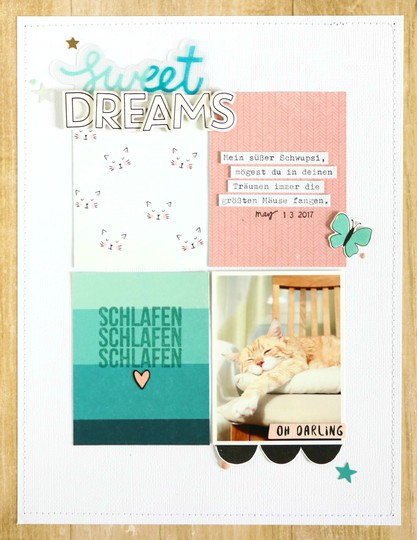 Sweet dreams scrapbooking layout 1 original