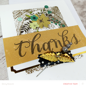 Thankscard closeup