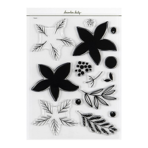 Picture of December Daily® 2021 Wintery Botanicals 6x8 Stamp Set