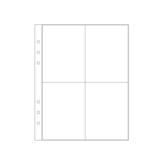 """Picture of 6x8"""" Page Protector 2A (6-rings)"""