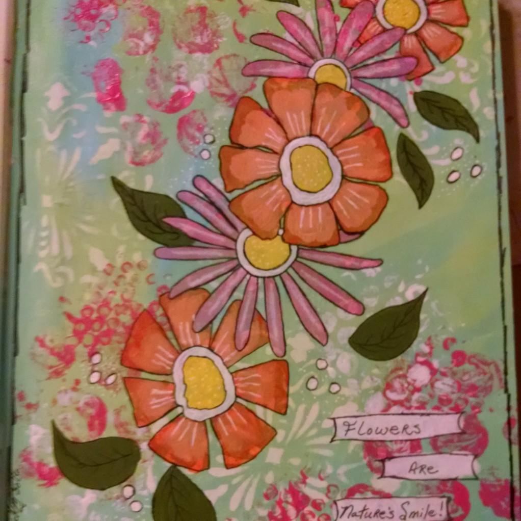 Painted flowers 1 original