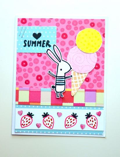 Heart summer card original