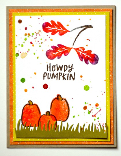 Howdy pumpkin card original