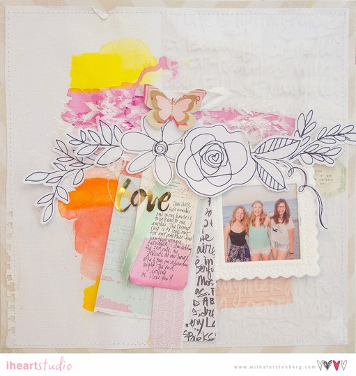 Love flower doodles