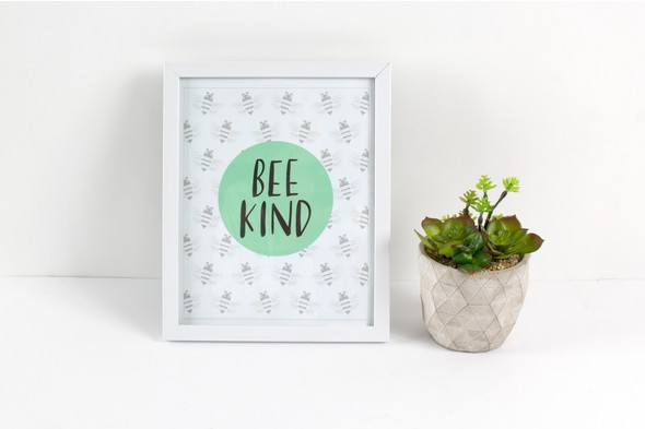 Sc bee kind printable styled original