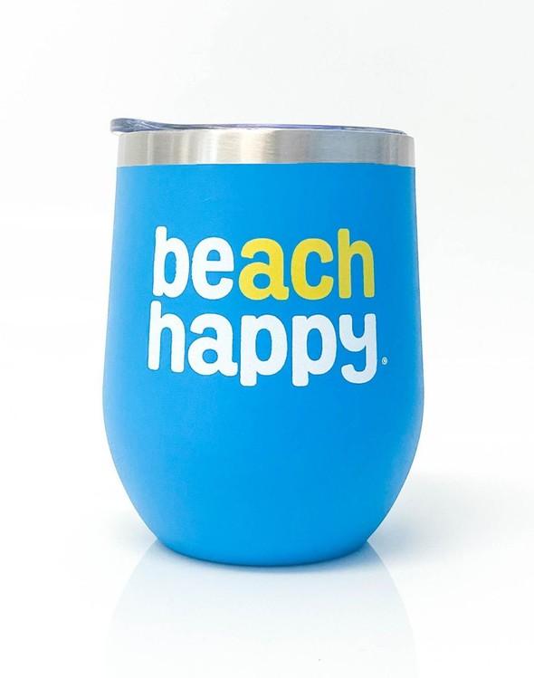 117157 beach happy stainless wine glass 30a blue slider 1 original