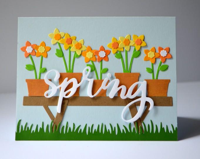 Spring flower card original