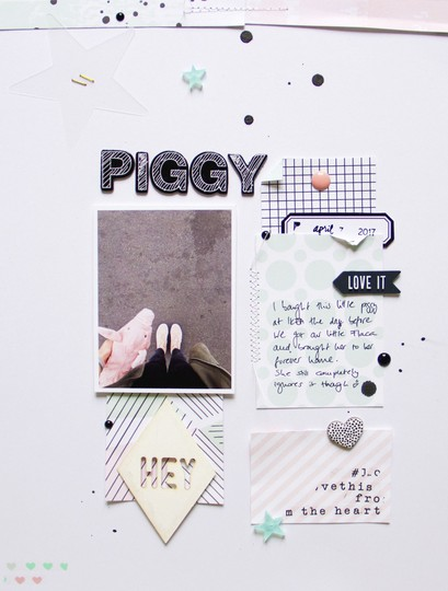 Piggy scatteredconfetti scrapbooking layout americancrafts pinkfreshstudio felicityjane studiocalico 1 original