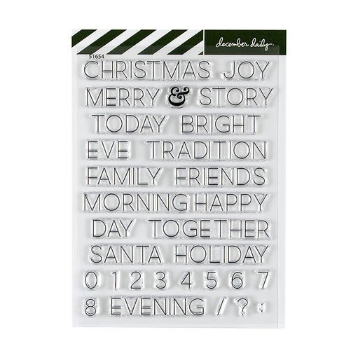 Picture of December Daily® 2019 Christmas Words 6x8 Stamp Set