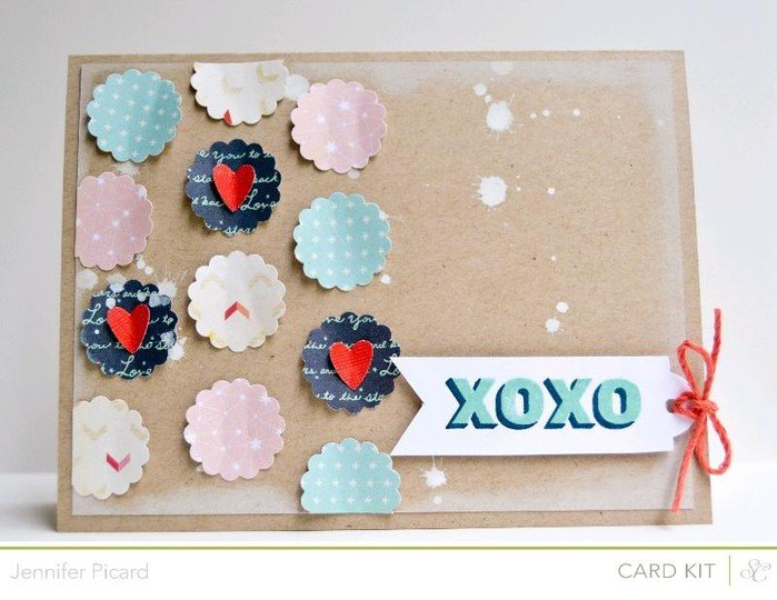Xoxo card kit only