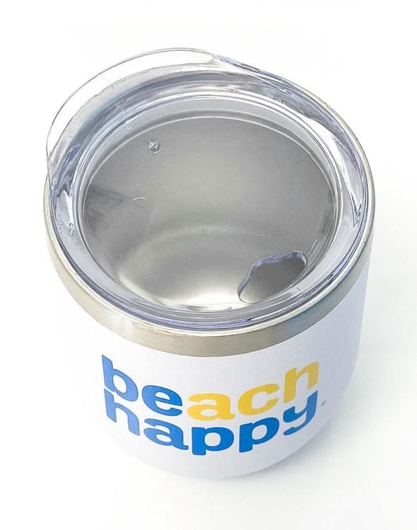 117158 beach happy stainless wine glass white slider 2 original