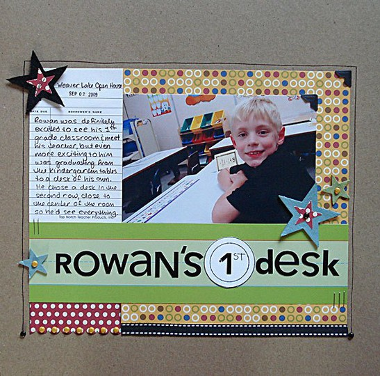 Rowan s 1st desk