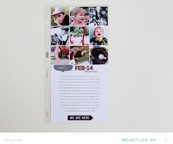 2014 project life february overview   studio calico bluegrass farm kit   kelly noel