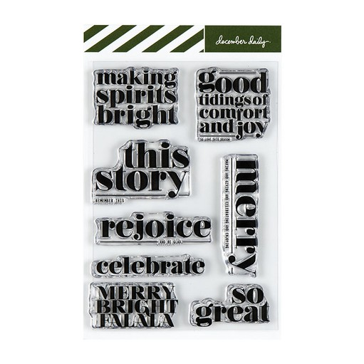Picture of December Daily® Making Spirits Bright 4x6 Stamp Set