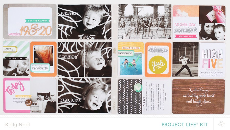 Project life weeks 19   20   studio calico hello hello kit   kelly noel