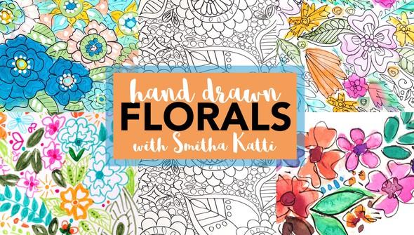 Hand drawn florals smitha katti original