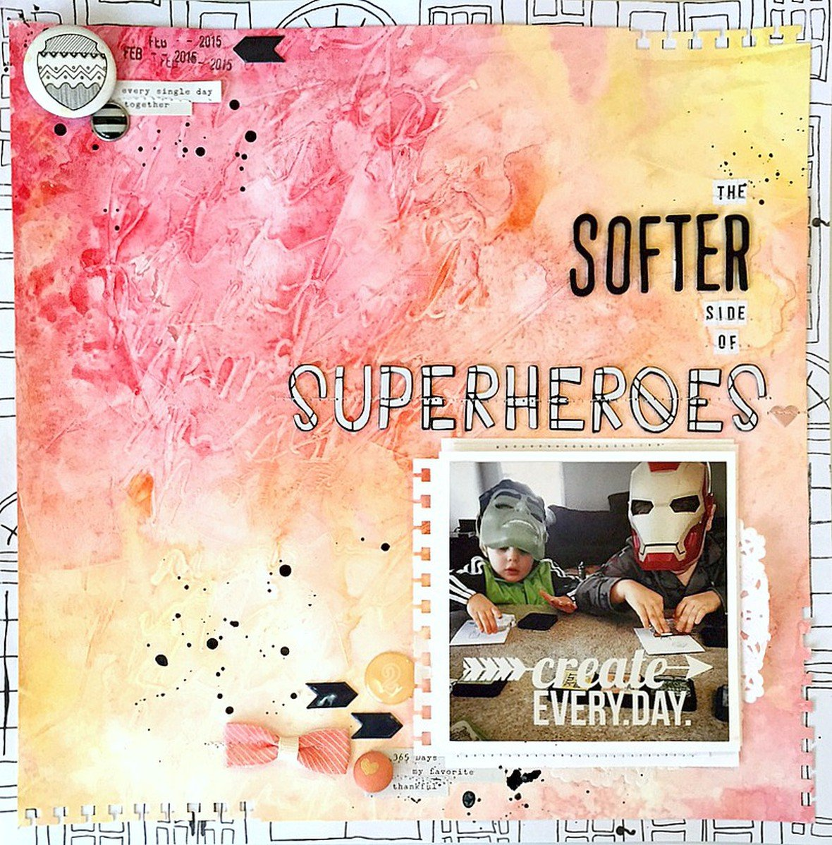 The softer side of superheroes layout   ls original