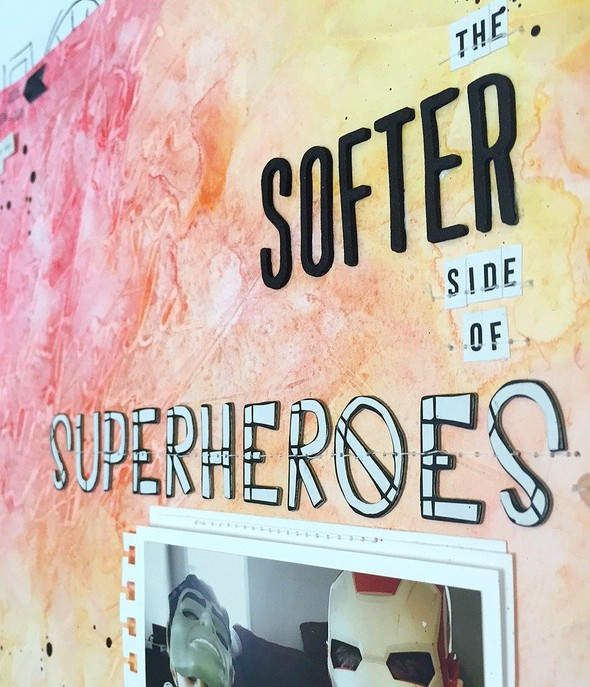 The softer side of superheroes layout   cu  stitching and title original