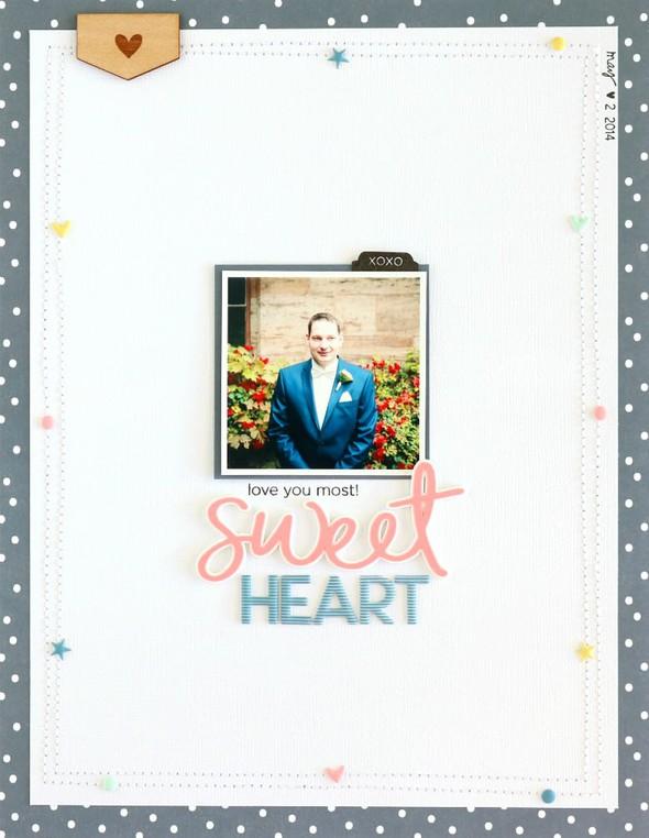 Sweetheart scrapbooking layout 2 original