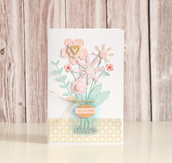Flower card by natalie elphinstone original