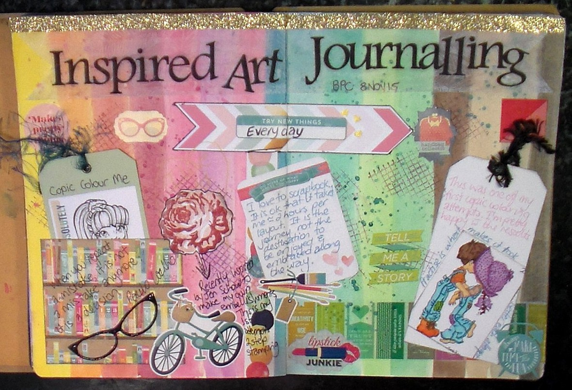 Lesson  01   inspired art journalling original