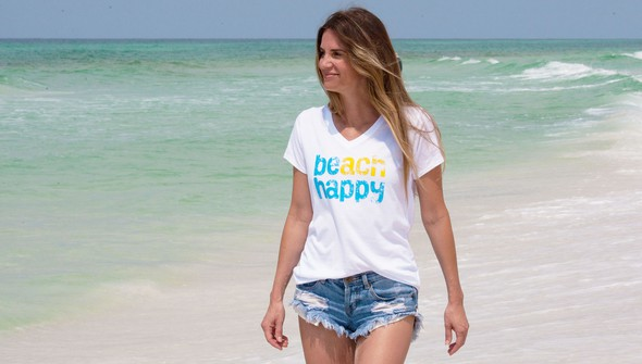 Beachhappy womensvneck white slider1 original