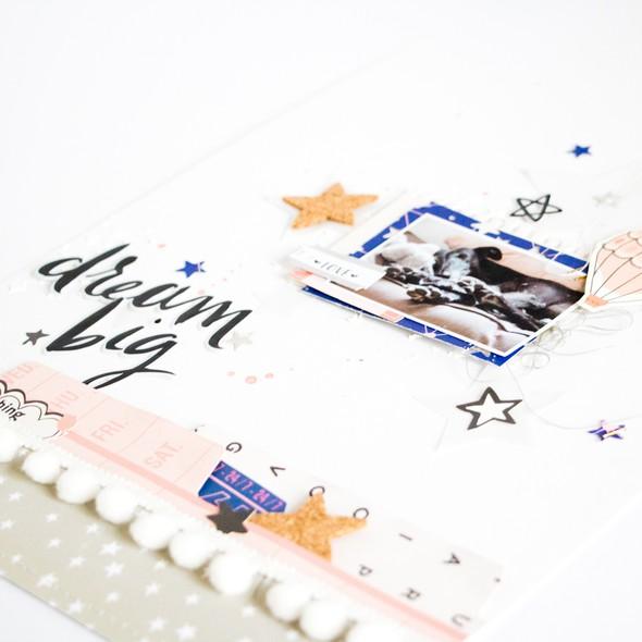 Dreambig scatteredconfetti scrapbooking layout cratepaper citrustwistkits sugarland sneak original