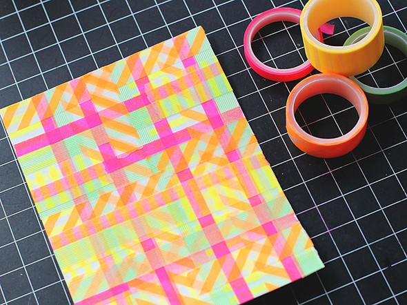 Before embossing neon washi3