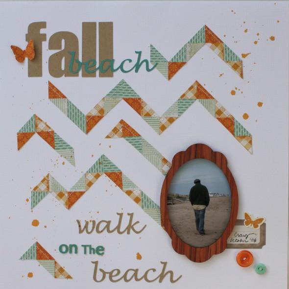 Fall walk on the beach1