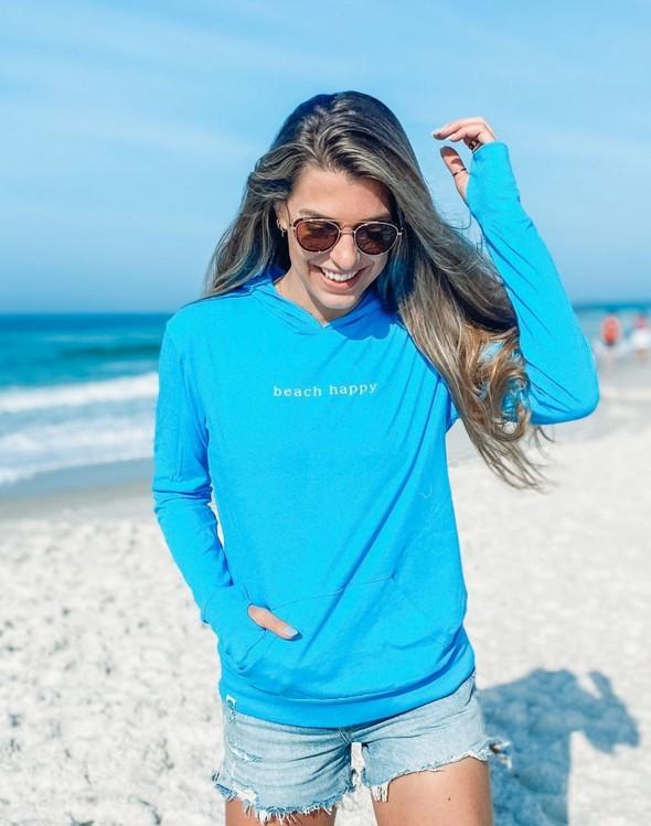 146351 simple beach happy pullover hoodie 30a blue women slider 2 original