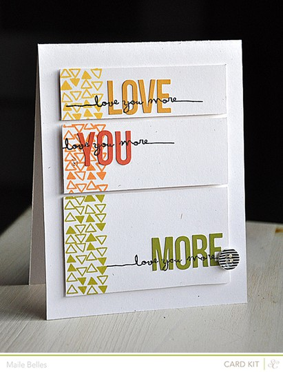 Love you more card (add on 2)
