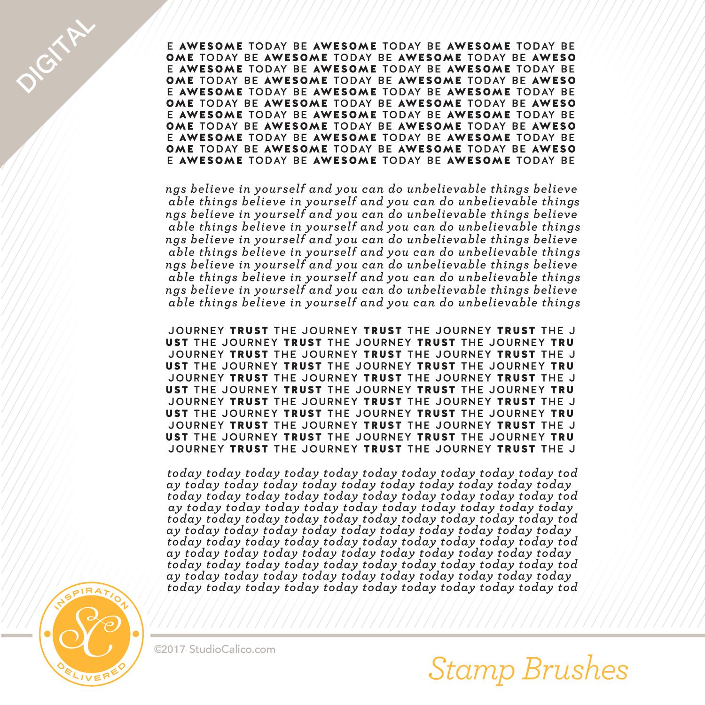 Digital Stamp Word Pattern Builder