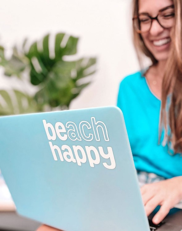 110970 beach happy vinyl sticker slider 1 original