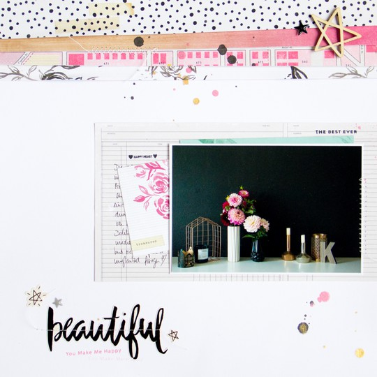 Beautiful scrapbooking layout scatteredconfetti cratepaper shine scrapbookwerkstatt 1 original