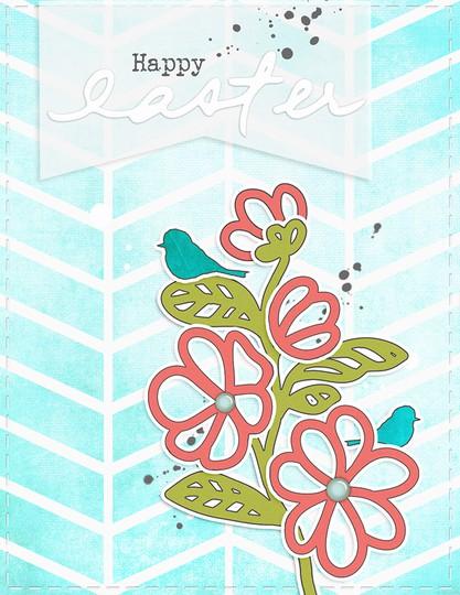 Card   happy easter original