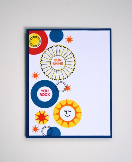 Sunshine you rock card original