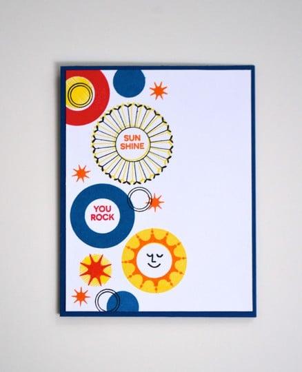 Sunshine you rock card original