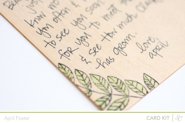 Thinking of you postcard closeup