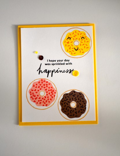 Sprinkled with happiness birthday card original