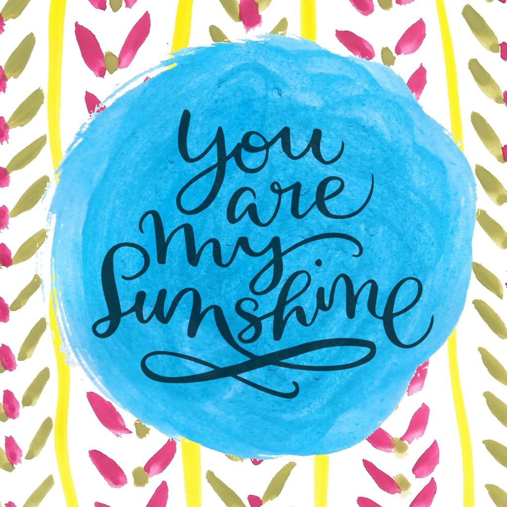 3x4 card you are my sunshine original