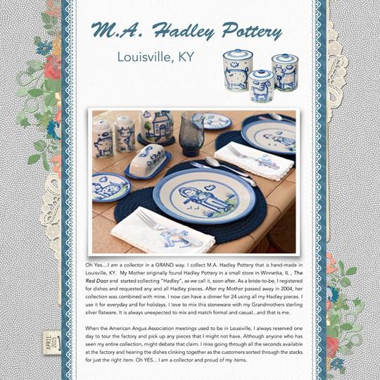 Hadley pottery  sm