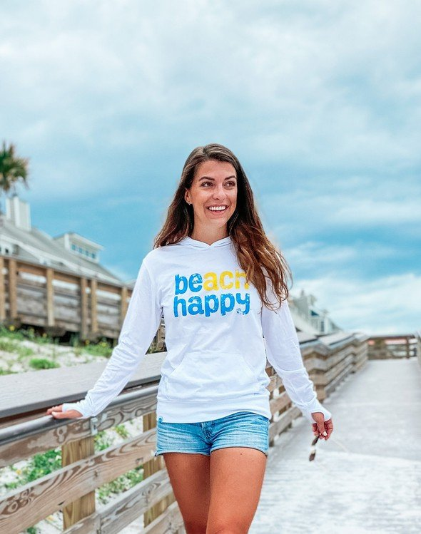 108507 beach happy pullover hoodie white women slider 2 original