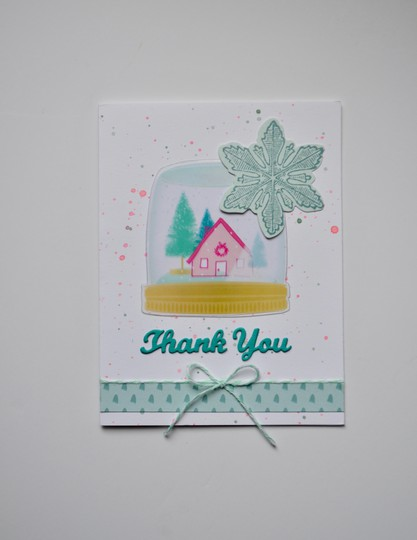 Snowglobe thank you card original
