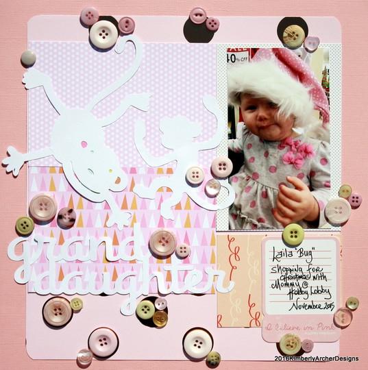 Granddaughter i believe in pink original