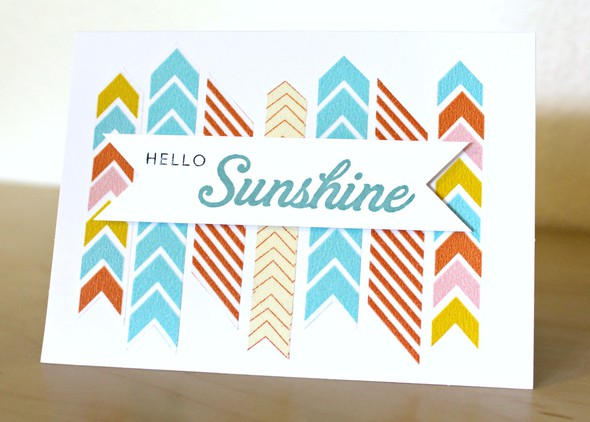 Washi tape sunshine