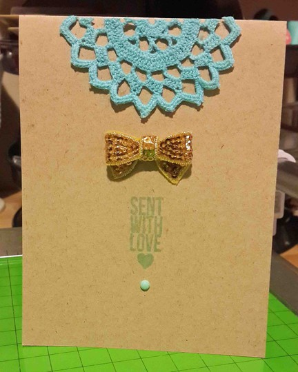 Sent with love card