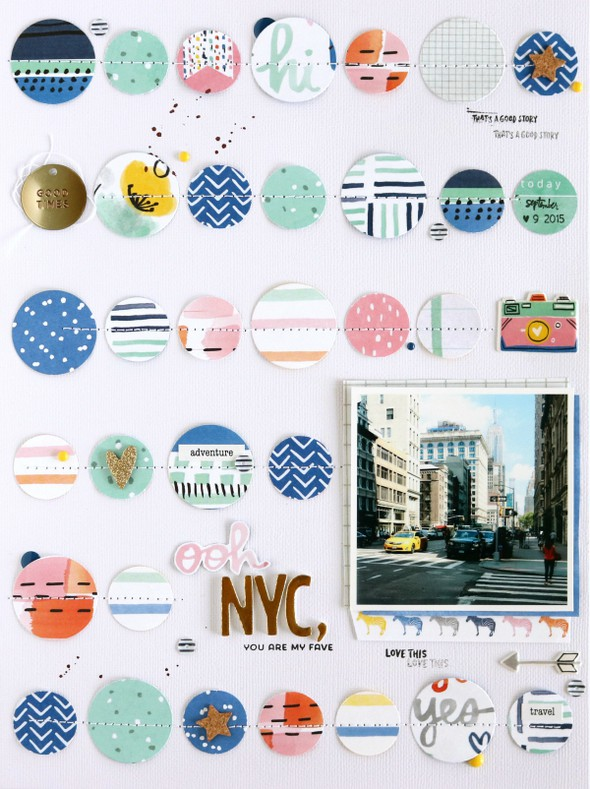 Ooh nyc scrapbooking layout 1 original