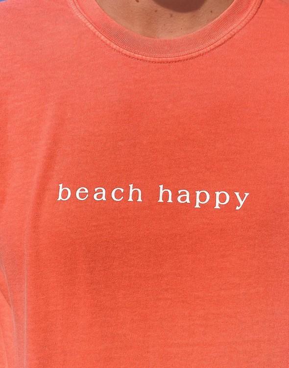 154063 simple beach happy comfort colors short sleeve tee bright salmon women slider 2 original