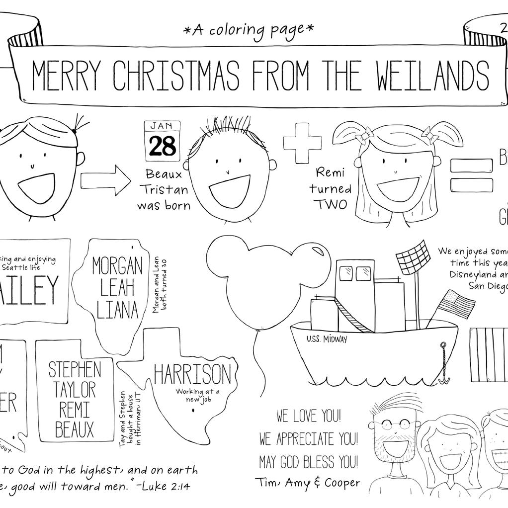 Christmas card 2015 original